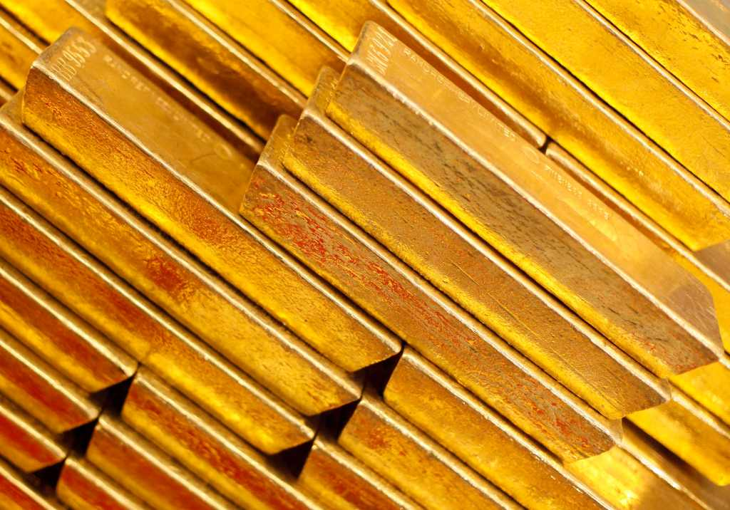 File photo of gold bars are seen at the Czech National Bank in Prague