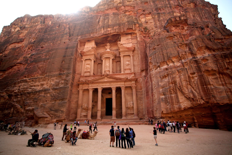 Rock-hewn Al Khazneh of Petra, Jordan | NOWs أخبار العالم